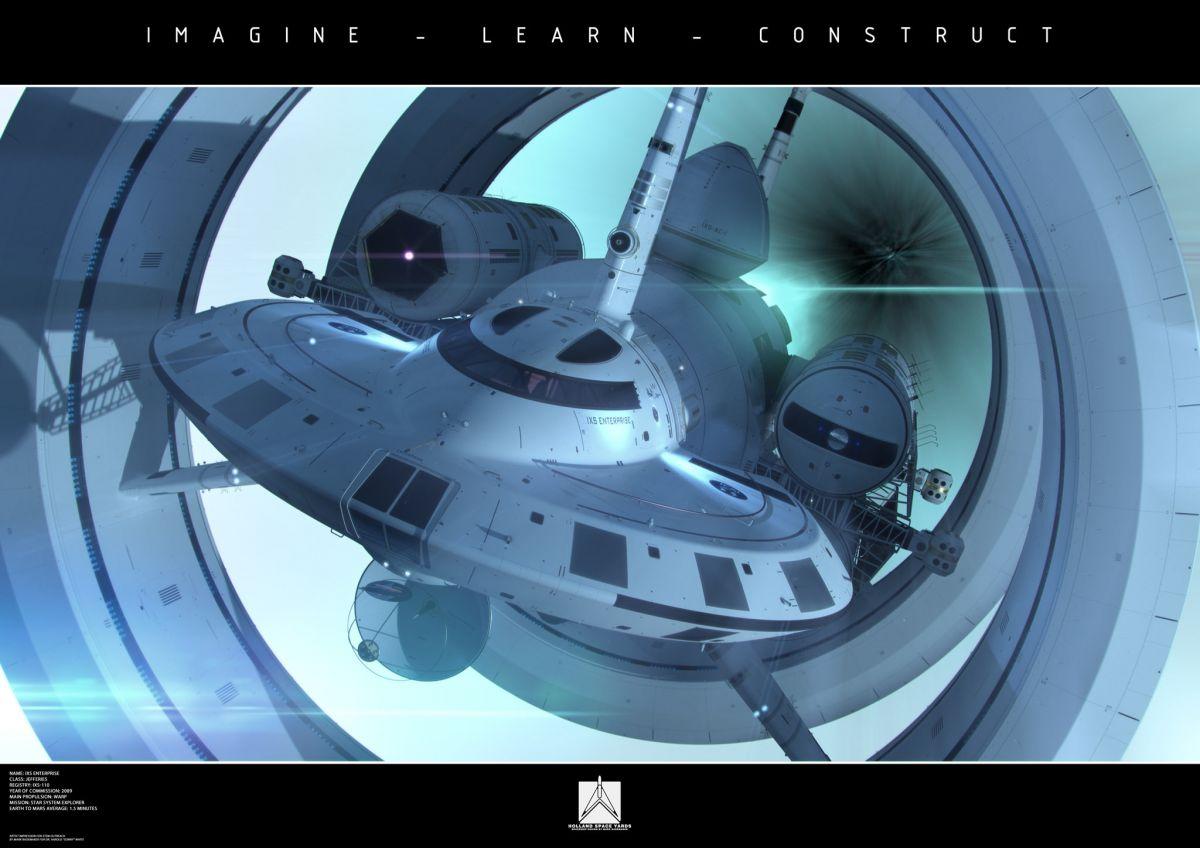 Концепт-арт межзвездного космического корабля NASA с варп-двигателем IXS Enterprise / © NASA/Mark Rademaker