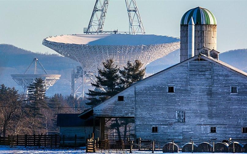 Радиотелескоп в Грин БэнкJim Lo Scalzo/EPA