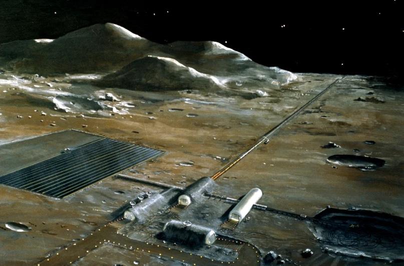 Электромагнитная катапульта для запуска с Луны. Эскиз. Источник изображения: spaceflight1.nasa.gov