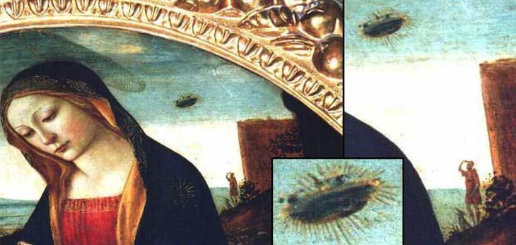 «Мадонна со святым Джованнино»: следы НЛО?