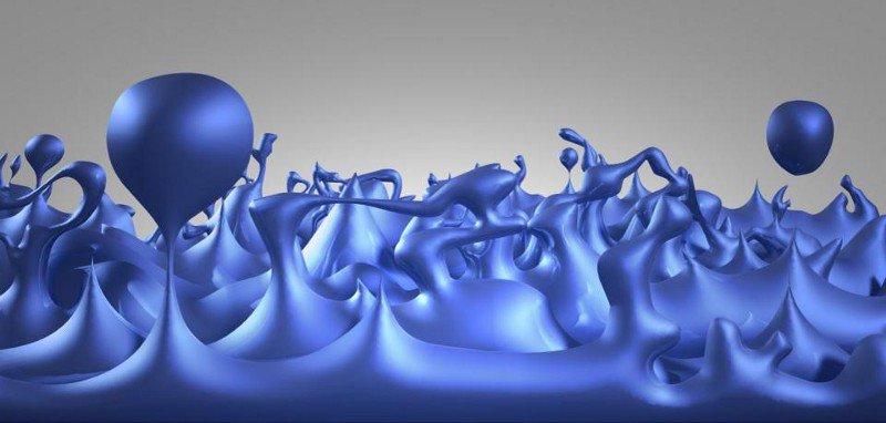 Иллюстрация ранней Вселенной, состоящей из квантовой пены, в которой квантовые флуктуации проявляются на мельчайших масштабах. Положительные и отрицательные флуктуации энергии могут создавать крошечные квантовые червоточины