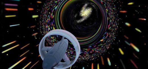 Варп-путешествие в представлении NASA. Если создать червоточину между двумя точками пространства, чтобы одна нора двигалась релятивистски относительно другой, проходящие через нее наблюдатели старели бы по-разному