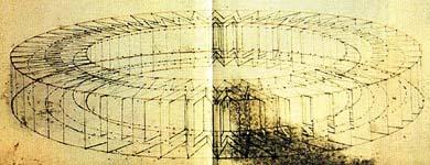 Водяное колесо Леонардо да Винчи