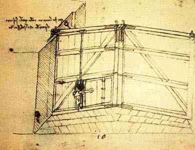 Ворота для шлюза Леонардо да Винчи