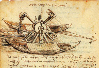 Дноуглубительный снаряд Леонардо да Винчи