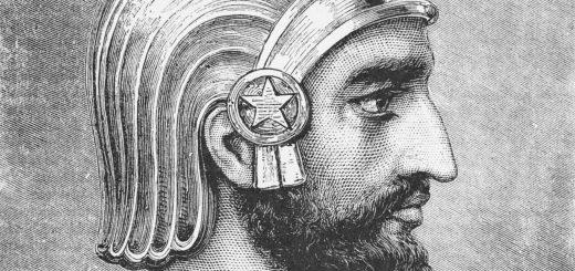 Правитель Персии. Нос похожий на клюв орла