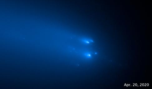взорвавшаяся комета