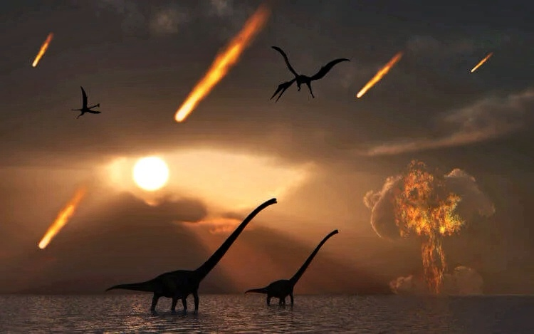 динозавры и астероид