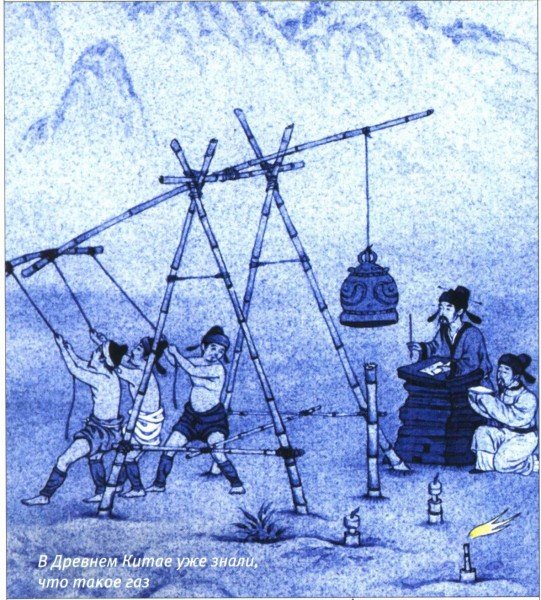 строительство газопровода в Древнем Китае