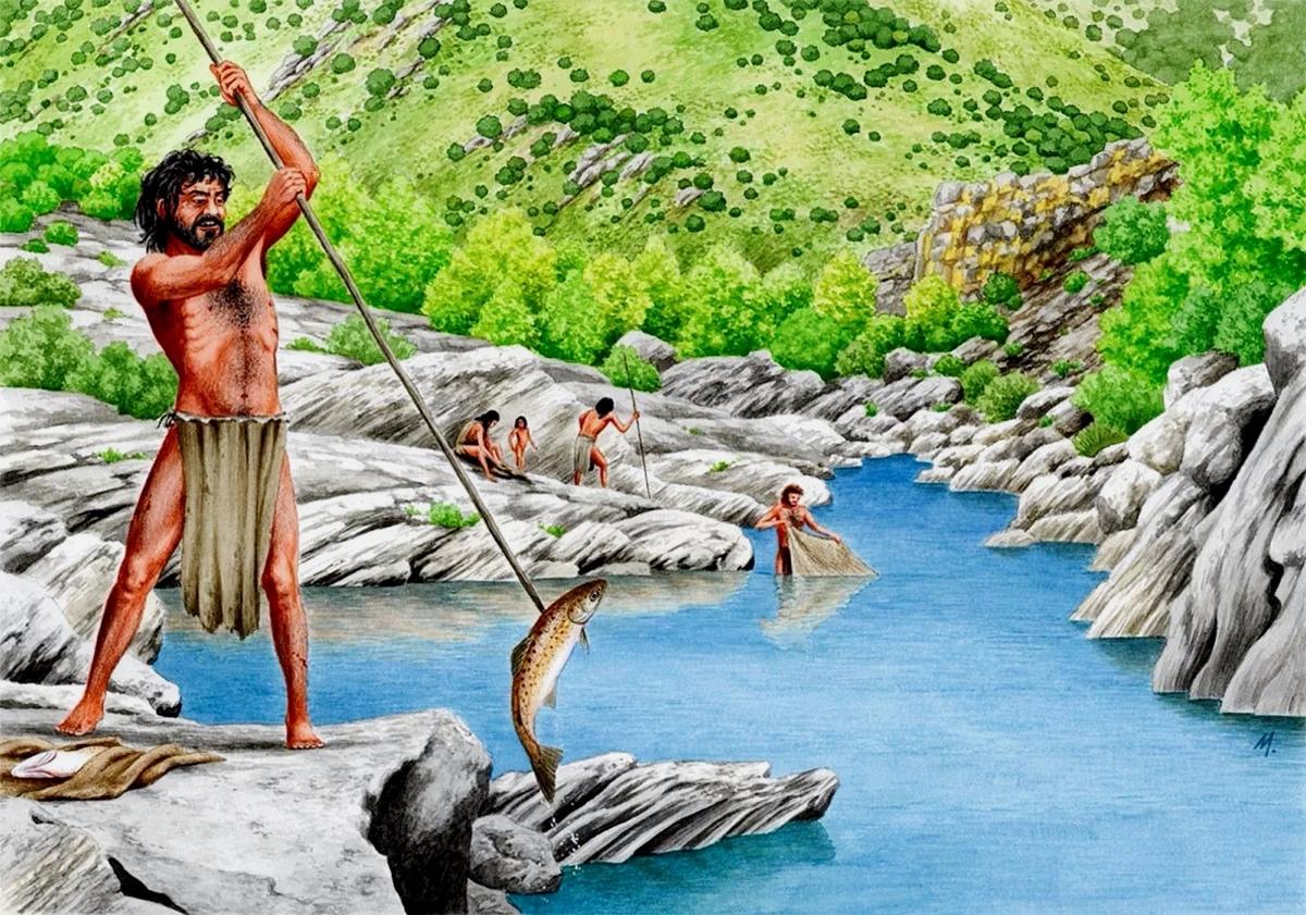 рыбак палеолита