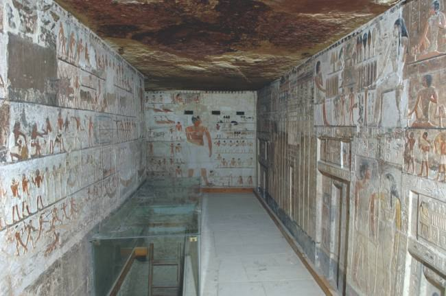 Необычное рисунки из древней гробницы