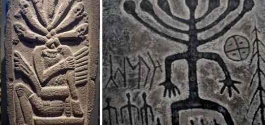 изображение божества Тюрков и Ацтеков