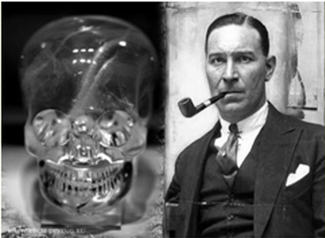 находка черепа из горного хрусталя английским археологом Митчеллом-Хеджесом.